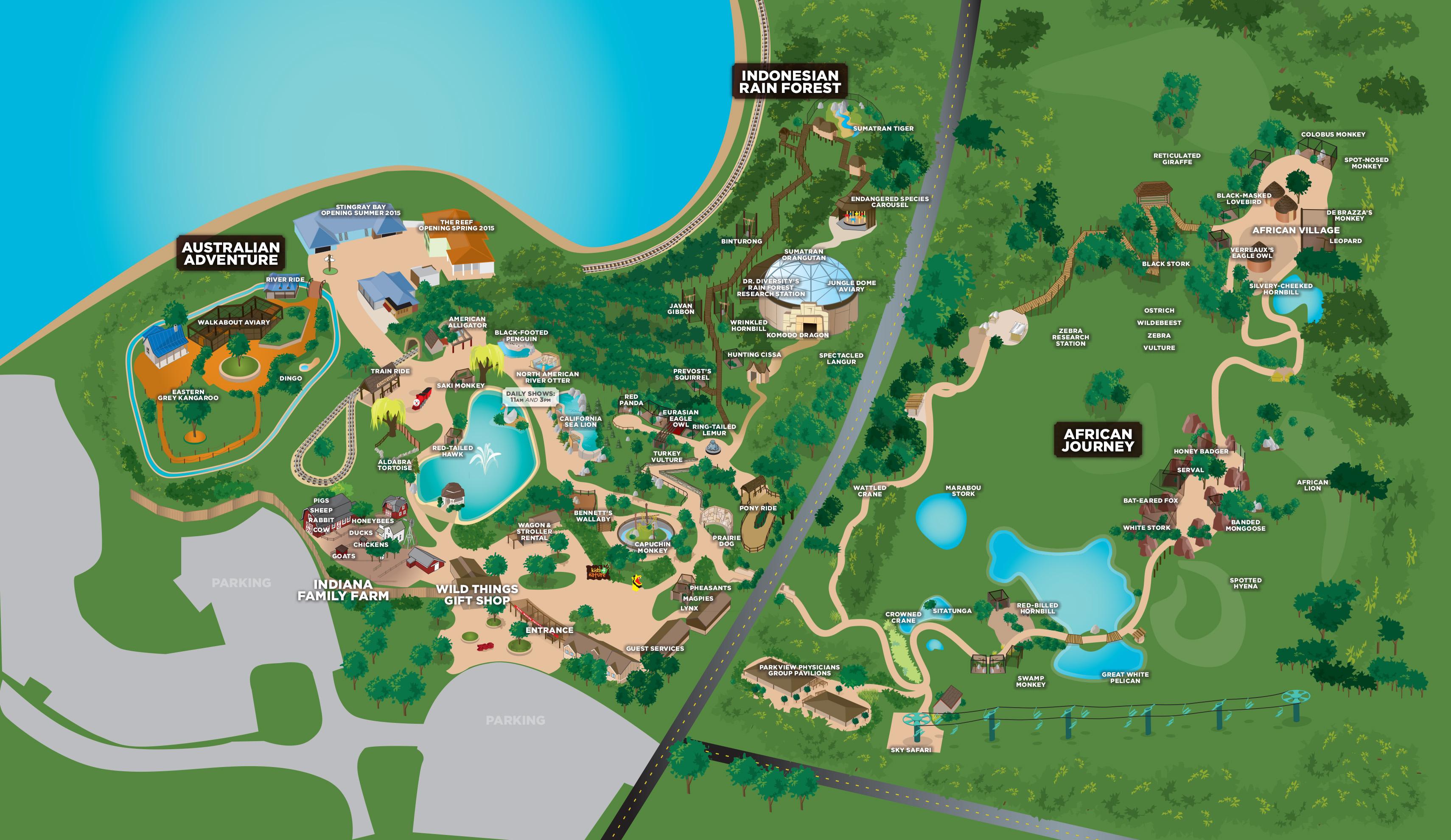 Fort Wayne Map Interactive Map   Fort Wayne Children's Zoo