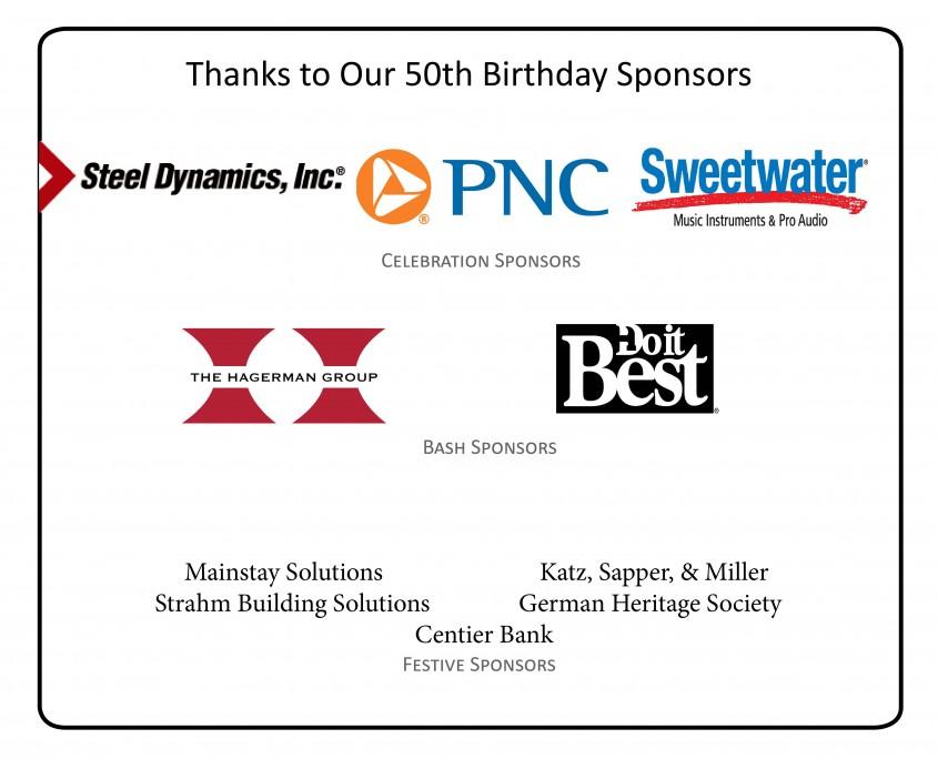 50th birthday sponsors