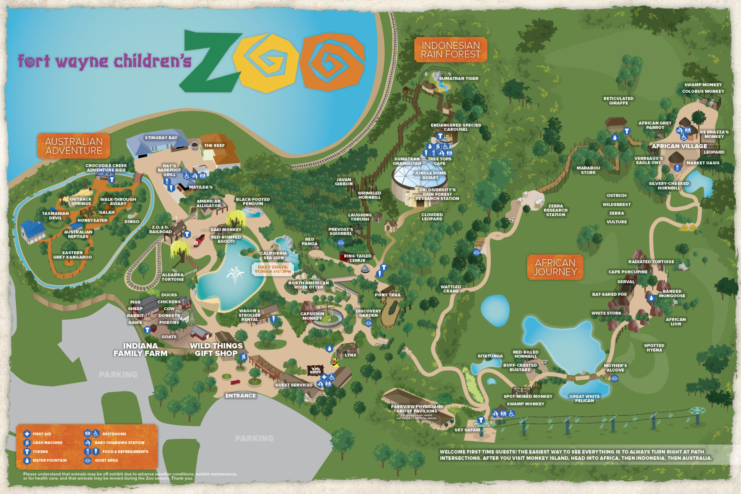 Old Australia Zoo Map.Plan Your Visit Fort Wayne Children S Zoo